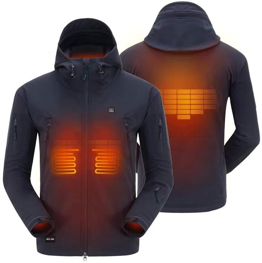 chaqueta calefactable hombre